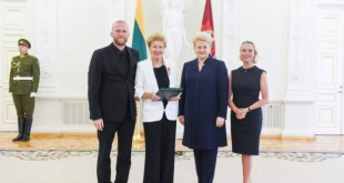G. Arlickaitė su D. Grybauskaite