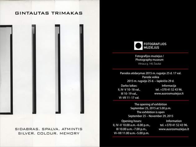 """Gintauto Trimako fotografijų paroda """"SIDABRAS. SPALVA. ATMINTIS."""""""